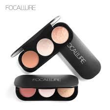 FOCALLURE <b>3 Colors</b> Blush <b>Highlighter</b> Palette Face Matte ...
