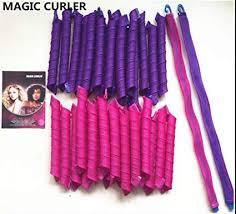 Manual <b>Magic Hair</b> Rollers - Pack of 40-55 cm - Purple and Fuchsia ...