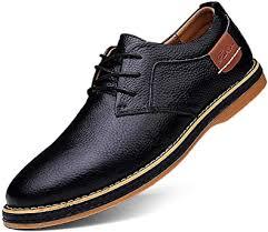 TSIODFO Men's Dress Shoes Black Brown Genuine ... - Amazon.com
