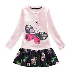 vikita new girls dress baby girl princess party dresses flower tutu for long sleeve children clothes lh3660 mix