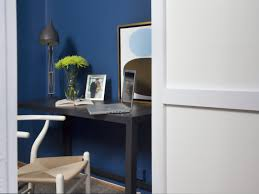 wonderful home office design idea with black table with light green flowers blue wall and white brown chair wonderful home office design ideas blue office room design