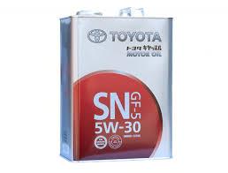 <b>Масло моторное TOYOTA Motor Oil</b> 5w30 SN/CF (4л) (Япония ...