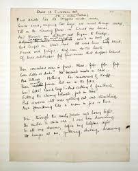 first world war inspired innovative art world war i a draft of the poem dulce et decorum est written by first world