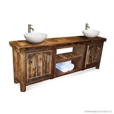 bathroom layout ideas rustic wooden vanity: rustic bathroom vanity barnwood rustic vanity double mayfly furniture co model