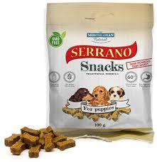 <b>Лакомство</b> для щенков <b>Mediterranean</b> Serrano Snacks, снеки, 100 г