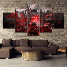 <b>HD</b> Print <b>5 Piece</b> World of Warcraft Game Poster Painting Canvas ...