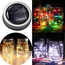 <b>1M 2M LED</b> Fairy Light 10 20 <b>LED</b> Solar Powered <b>LED Mason Jars</b> ...