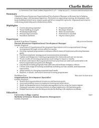 human resources resume examples human resources sample organizational development resume example