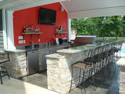 patio outdoor stone kitchen bar: outdoor kitchen pool house snack bar granite stone stamped concrete