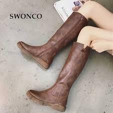 swonco black high top winter warm shoes women snow boots fur 2019 casual female ankle platform shoe 40