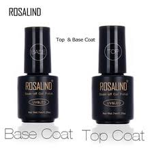 Основа и <b>верхнее покрытие для</b> ногтей ROSALIND 7 мл, Гель-лак ...