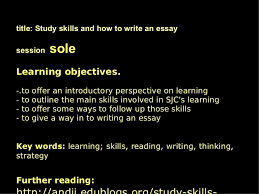 learning skills and essay writing intro