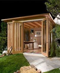 backyard office idea modern cabana the newest trend is upgraded sheds to add living backyard office prefab