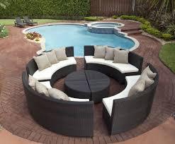 source outdoor circa quarter round wicker coffee table buy source outdoor circa