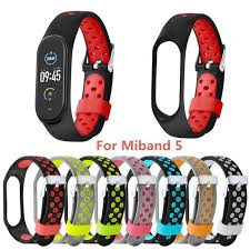For Mi Band 5 Breathable Hole Buckle Pin Buckle <b>Two color</b> ...
