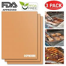 Copper KAPITAL HOME <b>Grill Mat</b> Set of 2 Reusable and Easy to ...