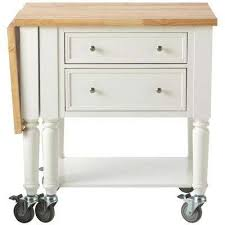 leaf kitchen cart: w wood drop leaf kitchen cart in picket fence