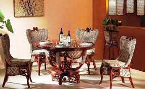 image of dining room with indoor rattan african style furniture african style furniture