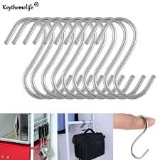 <b>1pcs Stainless Steel</b> Silver <b>Chrome</b> S Hook Kitchen Debris Rack ...