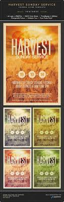 harvest sunday service flyer template flyer template flyers and harvest sunday service flyer template psd buy and graphicriver