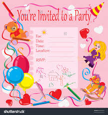 invitation for a birthday party com stock vector vector illustration birthday party invitation for kids card concept 65689030