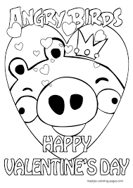 Small Picture Special Angry Birds Valentines Day Coloring Pages for kids