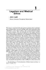 legalism and medical ethics springer inside
