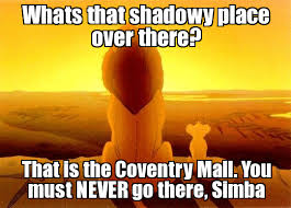 Mufasa and Simba Meme | Whats that shadowy place over there? That ... via Relatably.com