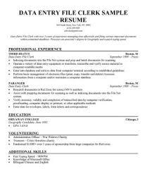 data entry resumes