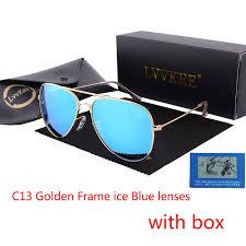 LVVKEE luxury <b>sunglasses men polarized uv400</b> high quality ...