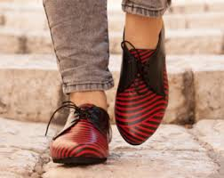 Image result for black and red ladies flats
