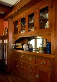 Douglas Fir Kitchen Cabinets Compact Comfort In A Bungalow Craftsman Craftsman Built In And