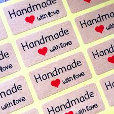 <b>120pcs NEW handmade</b> with Love package seal label products ...