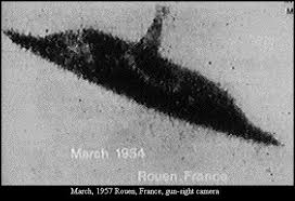 UFO picture, UFO over France 1957