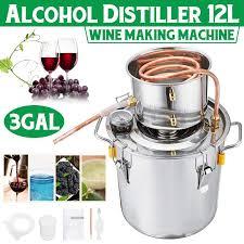 3GAL/<b>12L</b> Distiller <b>Moonshine</b> Alcohol Distiller Stainless Copper DIY ...