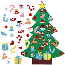AerWo 3FT DIY <b>Felt Christmas Tree</b> Set with 26 Detachable ...