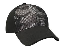 Structured Camo Front Cap with Matching <b>Mesh</b> Overlay FP120