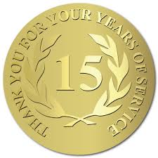 Image result for 15 year service award