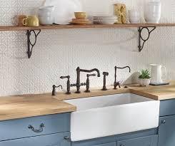 country kitchen column spout:  single bowl fireclay apron front kitchen sink  leg bridge country kitchen faucet with sidespray and country kitchen column spout filter faucet
