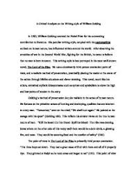a critical analysis on the writing style of william golding  page  zoom in