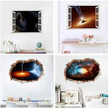 <b>3d effect</b> 45*60cm <b>universe black</b> hole nebula wall stickers home ...
