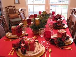Christmas Dining Room Christmas Table Settings Home Decor Waplag Thrift Dinner