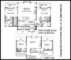 Large Craftsman House Plan CHP LG   GA Sq Ft   Large Craftsman    LG  Floor Plans