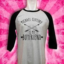 <b>michael clifford shirt</b> tshirt t-<b>shirt</b> top seconds of summer lol not mrs ...