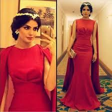 2016 <b>Sexy Arabic</b> Red <b>Long Muslim</b> Evening Dresses With Cape ...
