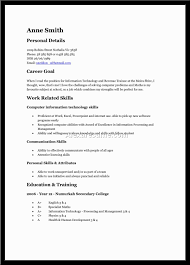 teenage job resume format curriculum vitae teenage job resume format part time job resume example for a teen the balance job academic