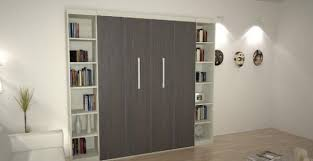 efficient small space bed for space savings contemporary bedroom with murphy bed flanked by bookshelves bedroom wall bed space saving furniture ikea