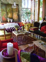 red bohemian living room furniture