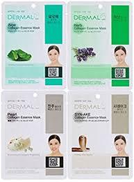Dermal Korea <b>Collagen Essence</b> Full <b>Face</b> Facial <b>Mask</b> Sheet, 16 ...