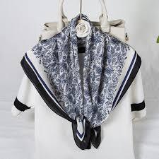 2020 New Satin Silk Scarf Wrap Female Fashion Temperament ...